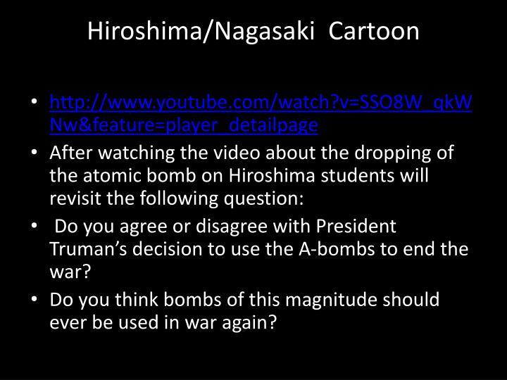 Hiroshima/Nagasaki  Cartoon