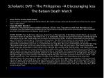 scholastic dvd the philippines a discouraging loss the bataan death march
