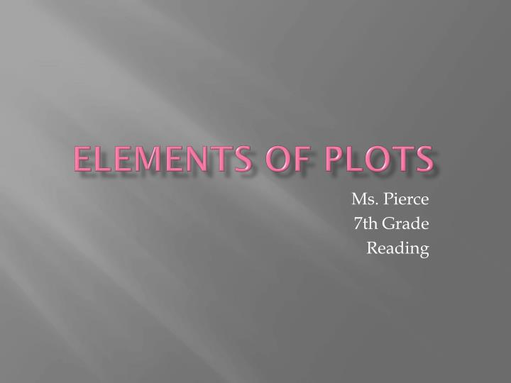 Elements of plots
