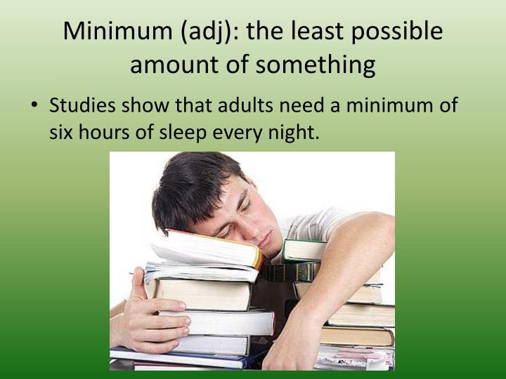 Minimum (