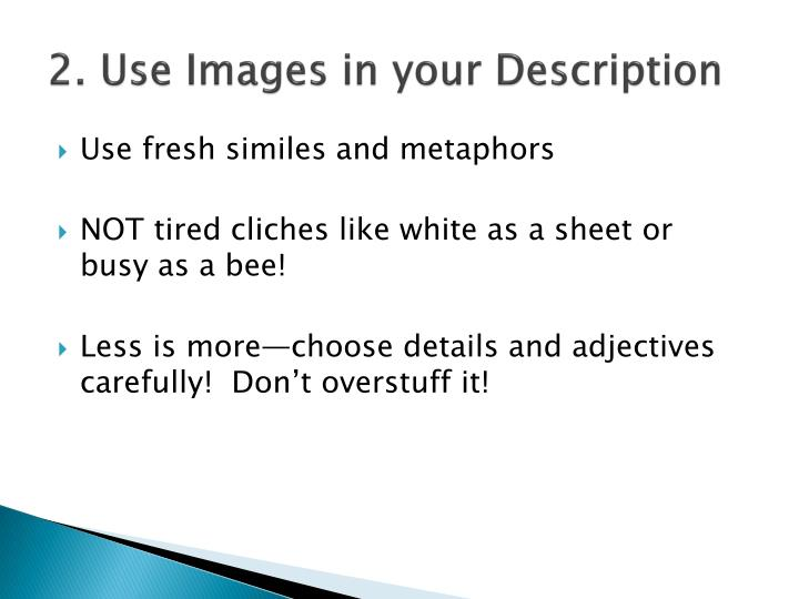 2. Use Images in your Description