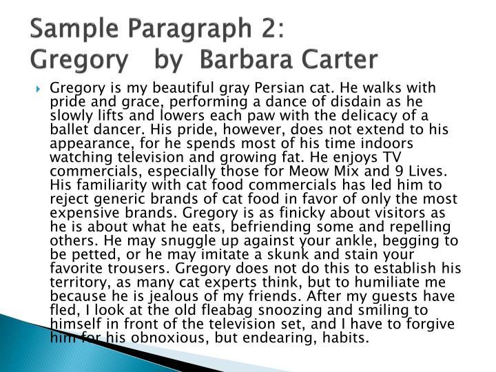 Sample Paragraph 2: