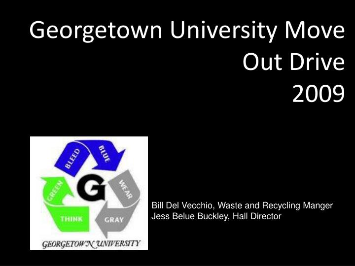 Georgetown University Move Out Drive