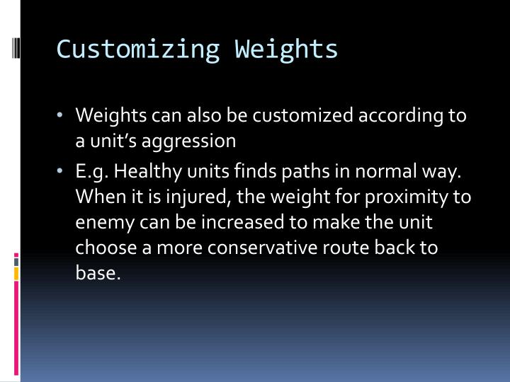 Customizing Weights