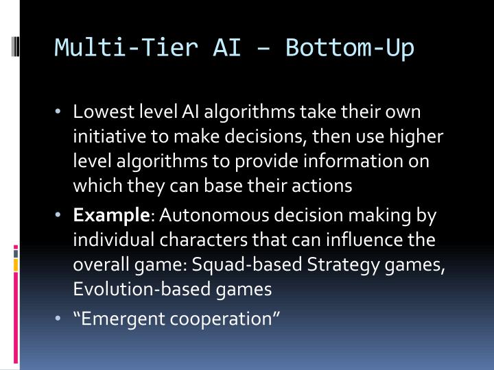Multi-Tier AI – Bottom-Up