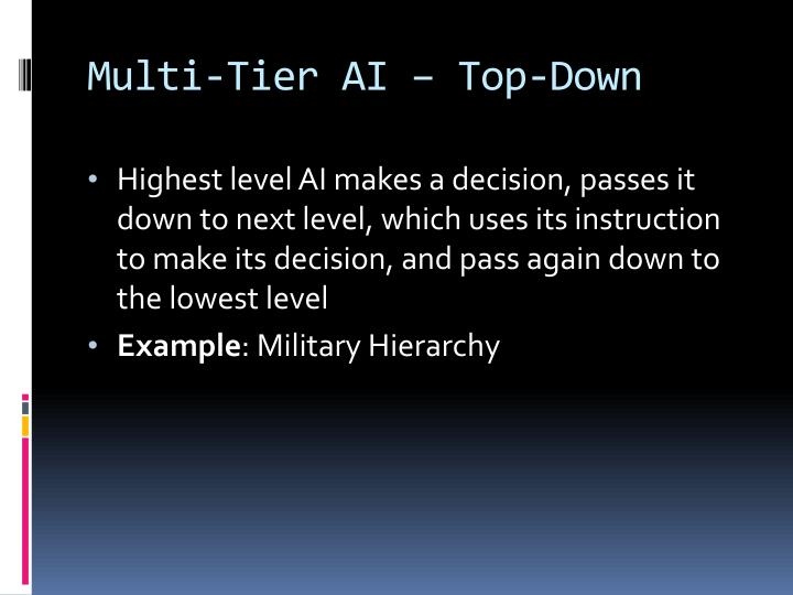Multi-Tier AI – Top-Down