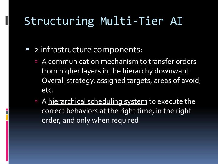 Structuring Multi-Tier AI