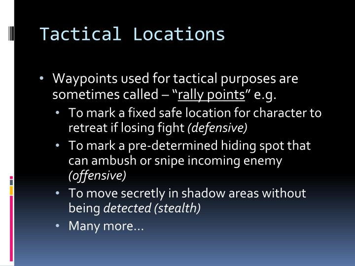Tactical Locations
