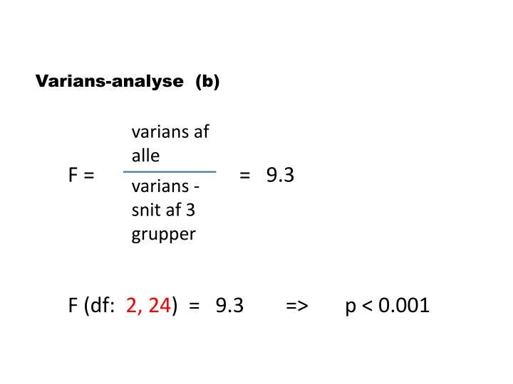 Varians-analyse  (b)