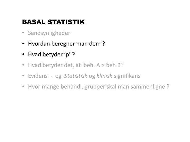 BASAL STATISTIK