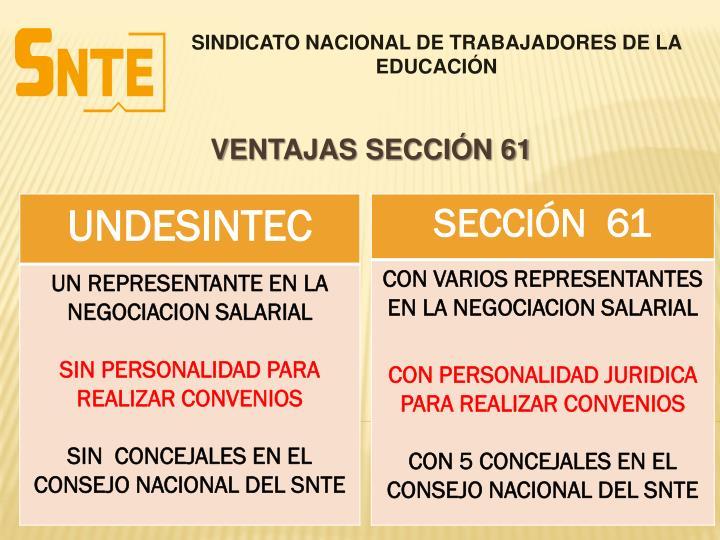 SINDICATO NACIONAL DE TRABAJADORES DE LA EDUCACIÓN