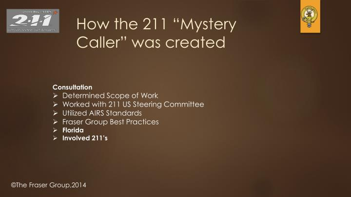 "How the 211 ""Mystery Caller"" was created"