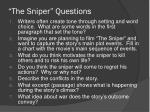 the sniper questions