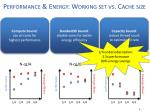 performance energy working set vs cache size1