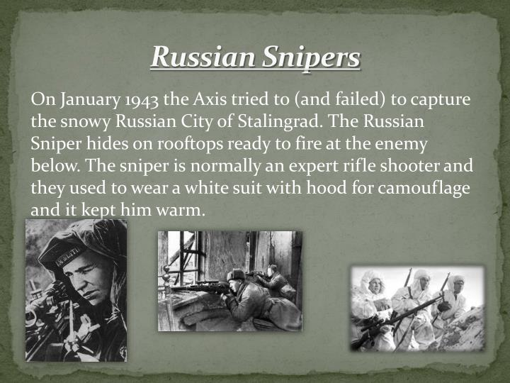 Russian Snipers