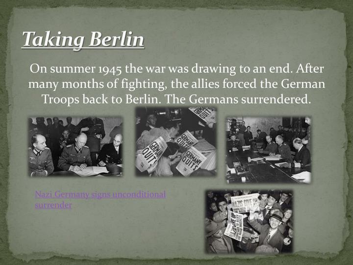 Taking Berlin