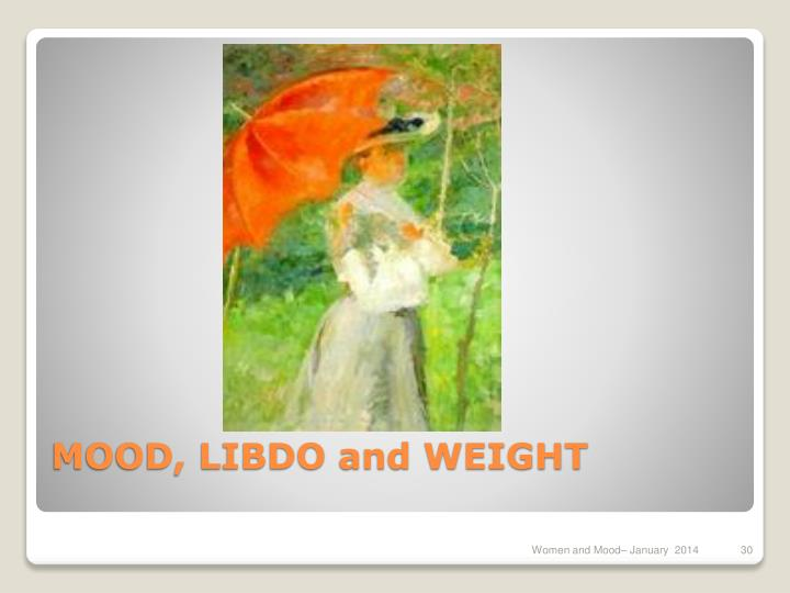 MOOD, LIBDO and WEIGHT