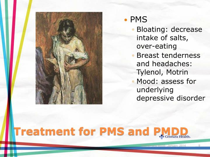 Treatment for PMS and PMDD