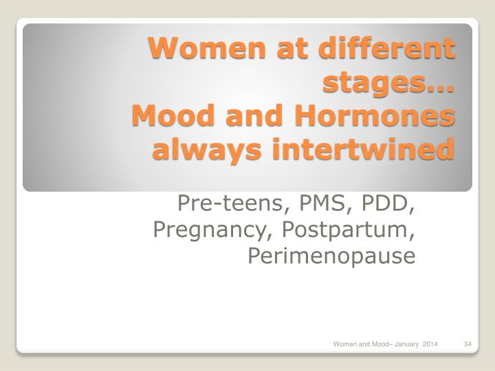 Women at different stages…