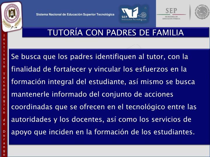 TUTORÍA CON PADRES DE FAMILIA