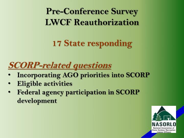 Pre-Conference Survey