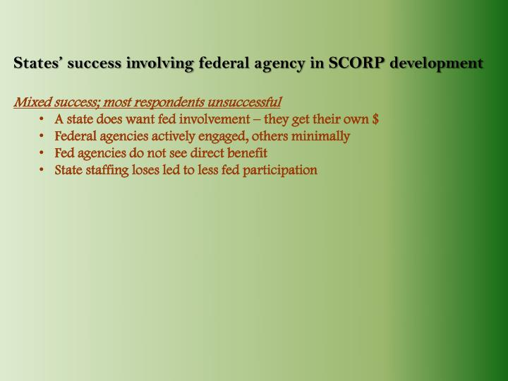 States' success involving