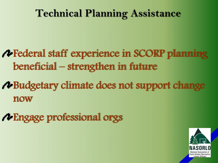 Technical Planning Assistance