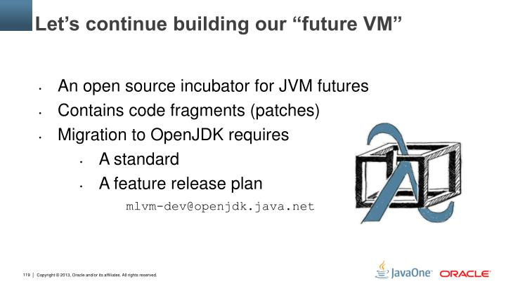 "Let's continue building our ""future VM"""