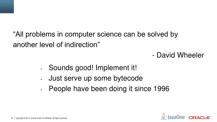 """All problems in computer science can be solved by"