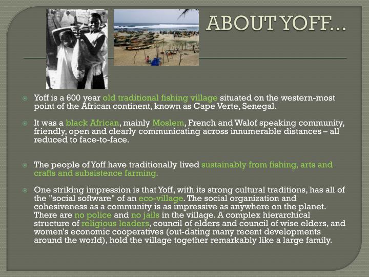 ABOUT YOFF...