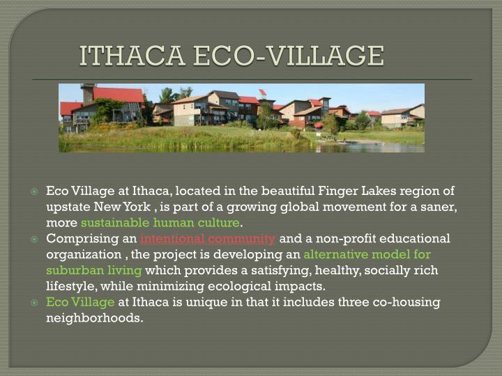 ITHACA ECO-VILLAGE