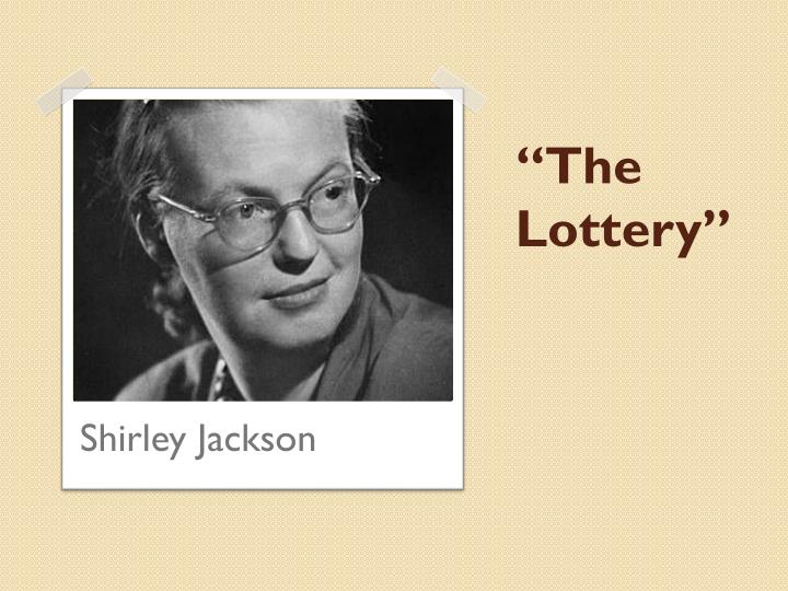the lottery essays tradition