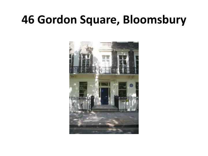 46 Gordon Square, Bloomsbury