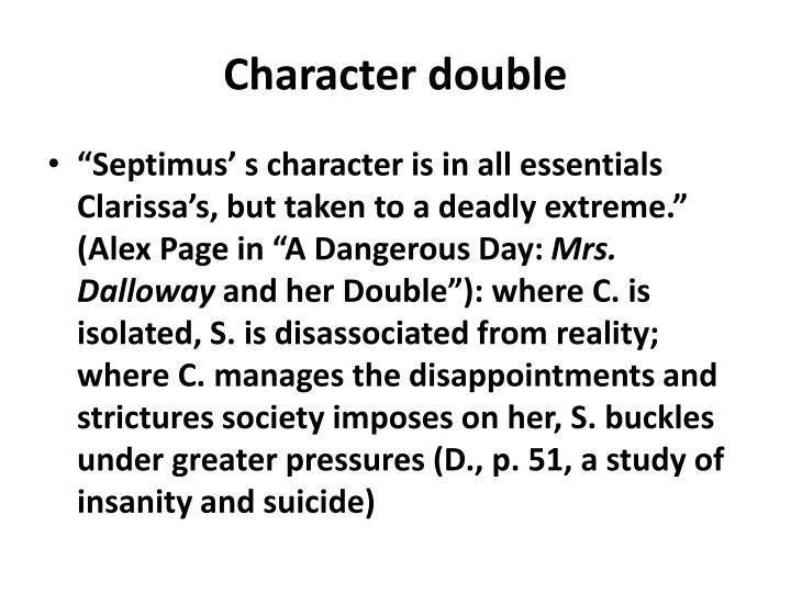 Character double