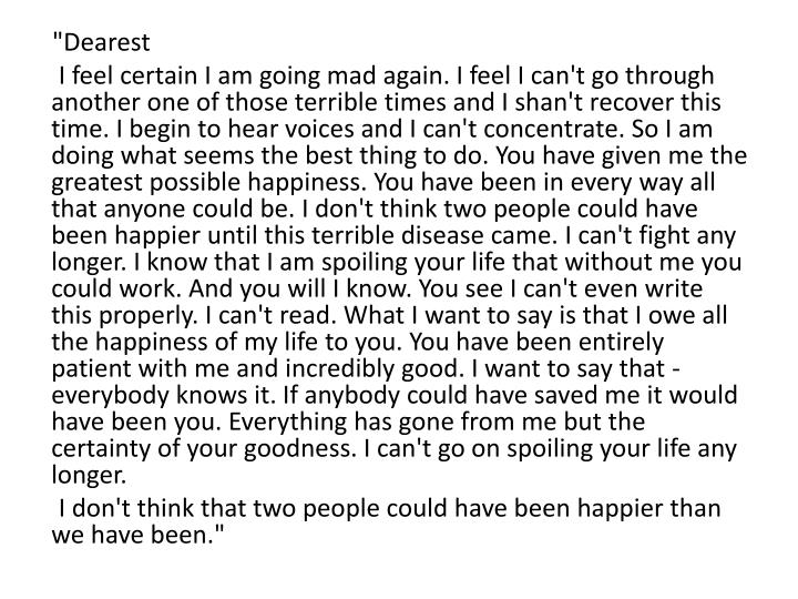 """Dearest"