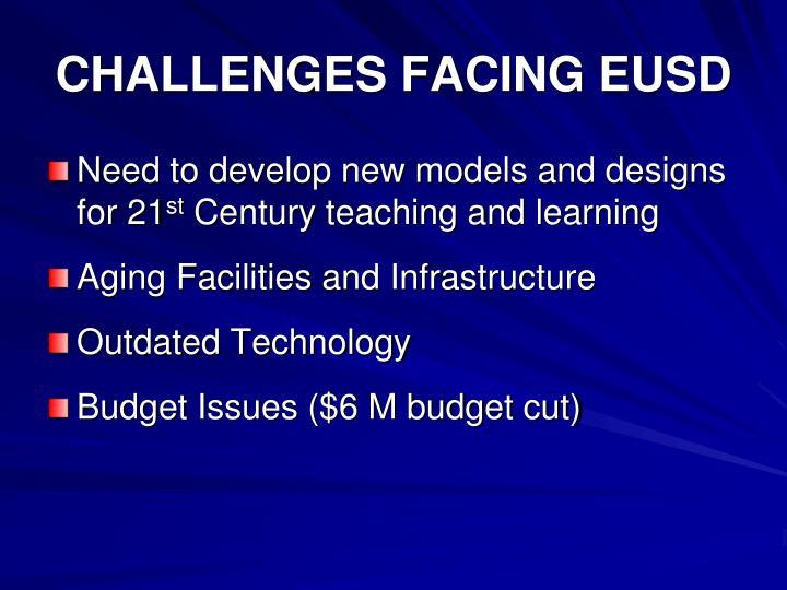CHALLENGES FACING EUSD