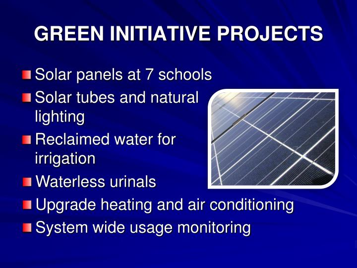 GREEN INITIATIVE PROJECTS