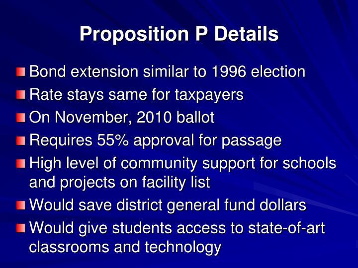 Proposition P Details