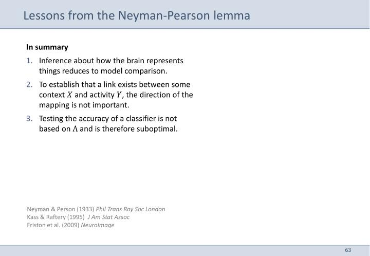 Lessons from the Neyman-Pearson lemma