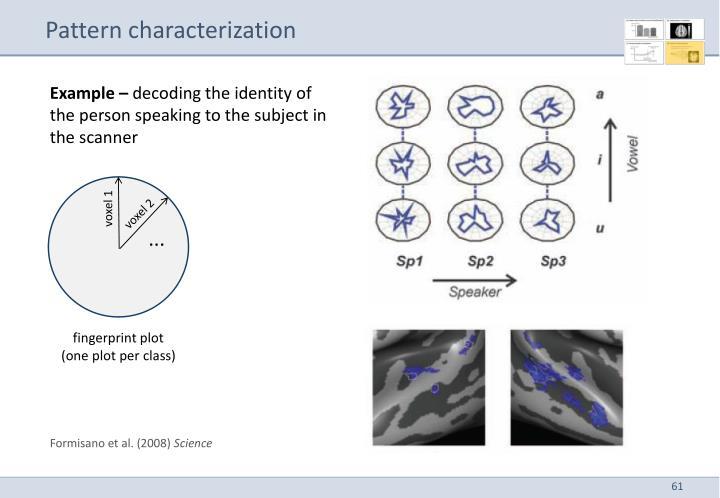 Pattern characterization