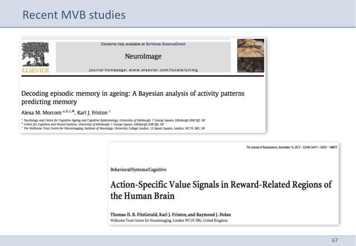 Recent MVB studies