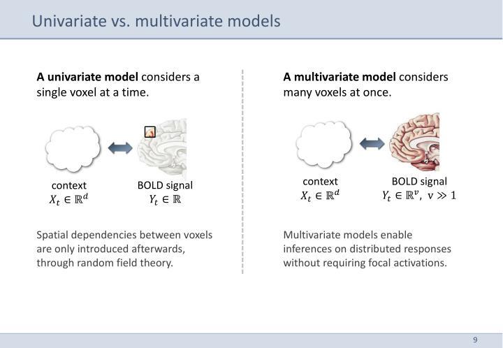 Univariate vs. multivariate models