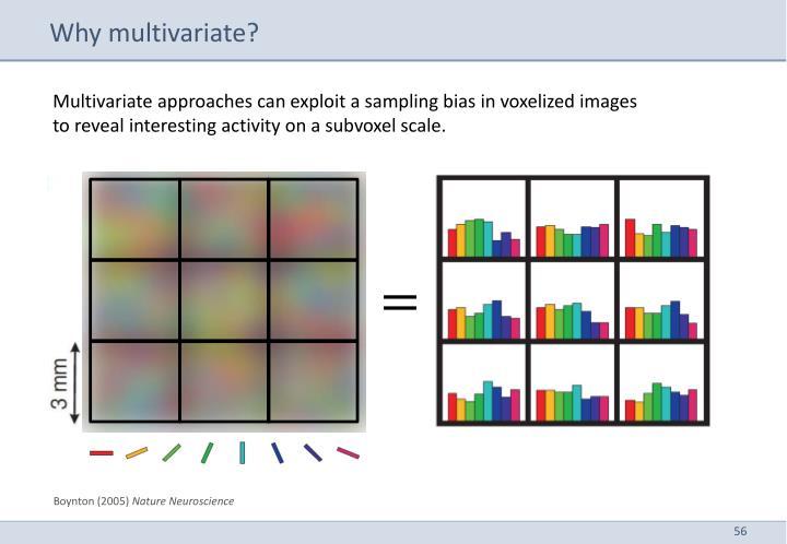 Why multivariate?