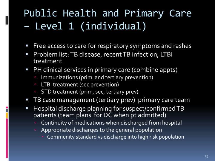 public health and primary care essay