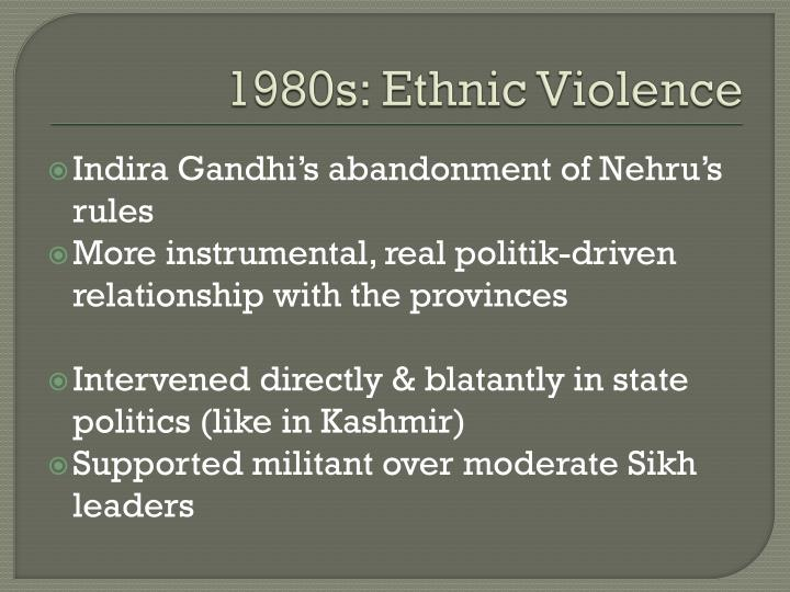 1980s: Ethnic Violence