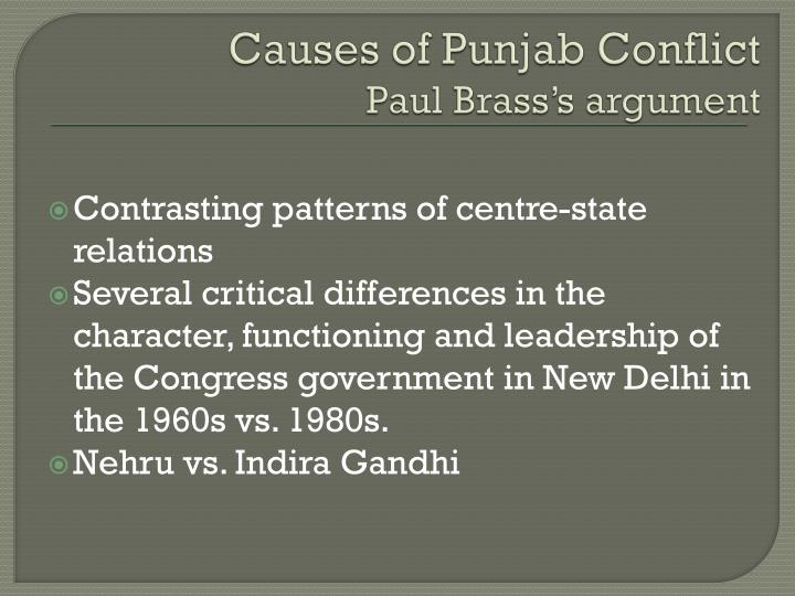 Causes of Punjab Conflict