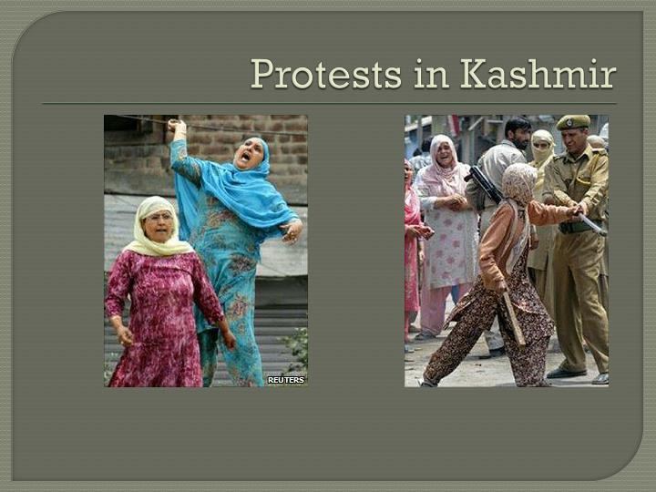 Protests in Kashmir