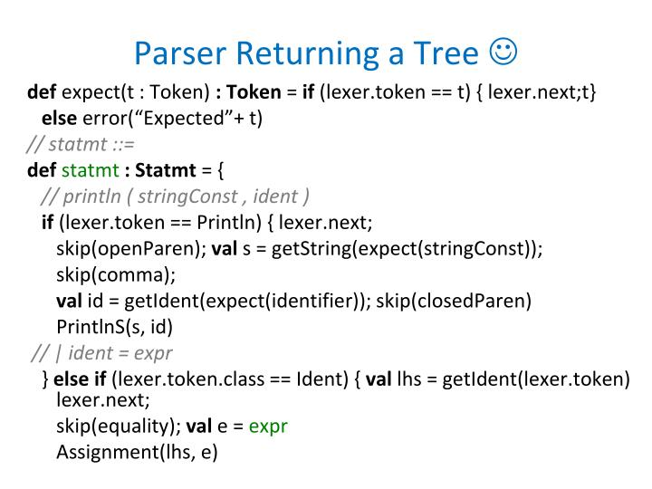 Parser Returning a