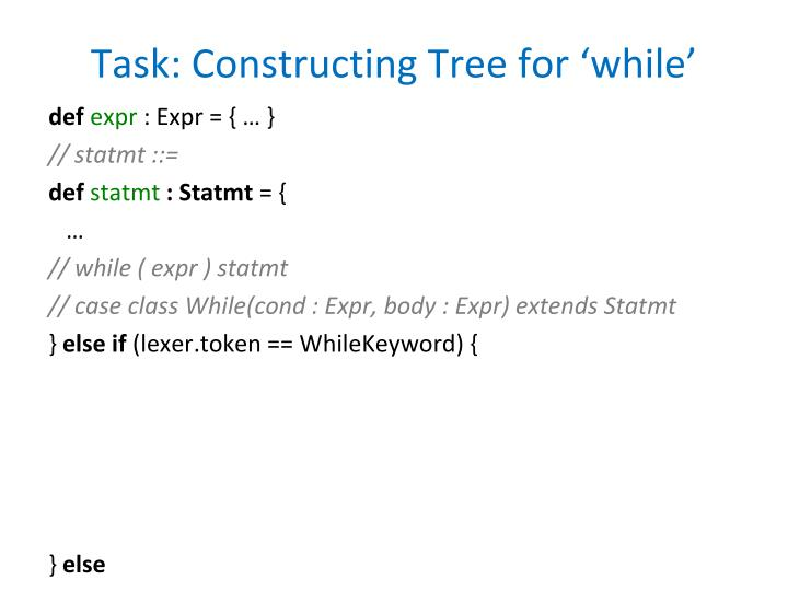 Task: Constructing