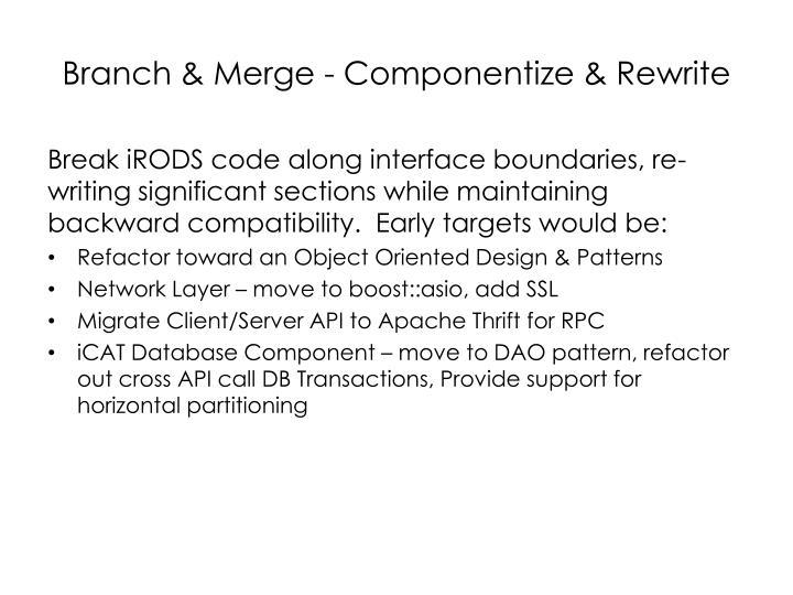 Branch & Merge - Componentize & Rewrite